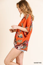 Load image into Gallery viewer, Umgee Front Back Reversible Floral Print Dolman Sleeve Top - Sensual Fashion Boutique