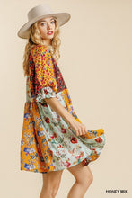 Load image into Gallery viewer, Umgee Floral Mix Print Puff Sleeve Dress - Sensual Fashion Boutique
