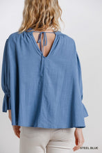 Load image into Gallery viewer, Umgee Frill Neck Ruffle Sleeve Top - Sensual Fashion Boutique