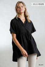 Load image into Gallery viewer, Umgee Collared Short Sleeve Babydoll Tunic - Sensual Fashion Boutique