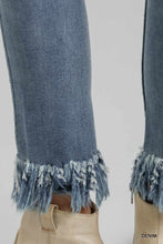 Load image into Gallery viewer, Umgee Distressed Detail Stretchy Frayed Hem Skinny Jeans - Sensual Fashion Boutique
