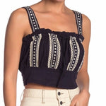 Free People Navy Hill Crop Top - Sensual Fashion Boutique