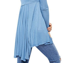 Load image into Gallery viewer, Free People Birdie Henley Top Denim Blue - Sensual Fashion Boutique
