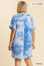 Load image into Gallery viewer, Umgee Plus Size Tie Dye Ribbed Round Neck Short Sleeve Dress - Sensual Fashion Boutique