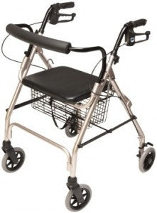 Walker 4 Wheels Fixed Ht Seat Economy Adult & Sm Adult