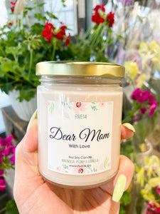"Mother's Day Candle ""Dear Mom, With Love"""