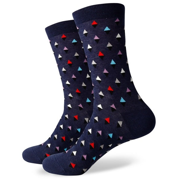 Blue Color Diamond Socks