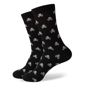 Black White Skulls Socks