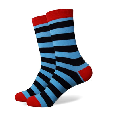 Blue Black Striped Socks