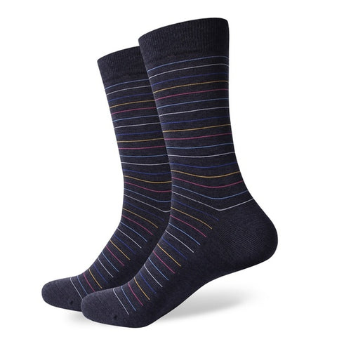 Multi Color Thin Striped Socks