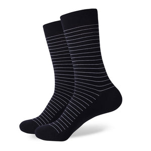 Black White Thin Striped Socks