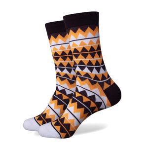 Multi Color Zig Zag Socks
