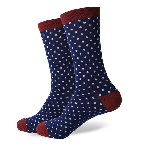 Navy White Dot Socks