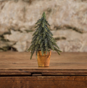 "Glittered Shaggy Pine Tree, 7.5"" - Last 1!"
