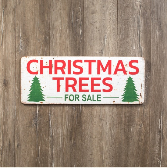 "Christmas Trees Sign, 28""x10.5"" - Last 1!"