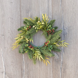 "Winter Foliage Wreath - 13"" - Just a few left!"