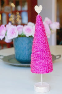"Graceful Heart Tree - 15"" Bright Pink"