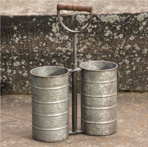 Galvanized Double Bottle Carrier