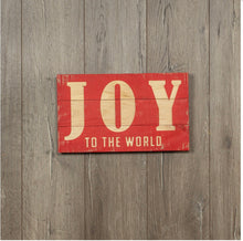 Joy to the World Sign