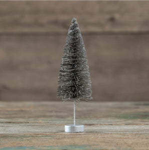 Pewter Bottlebrush Tree - 10""