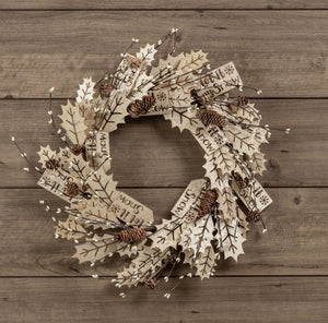 Let It Snow Wreath - 18""