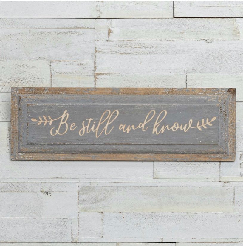 Be Still & Know Plaque