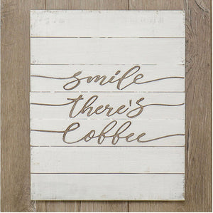 Coffee Shiplap Sign