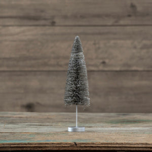 Pewter Bottlebrush Tree - 8""
