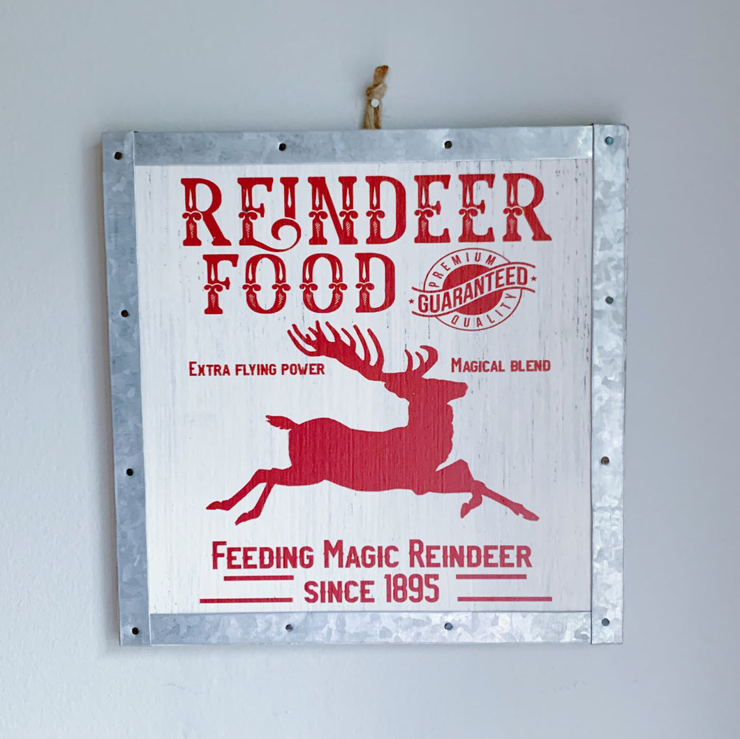 Reindeer Food Sign