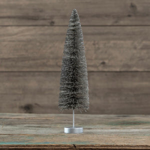 Pewter Bottlebrush Tree - 14""