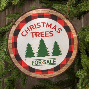 Christmas Trees Round Sign