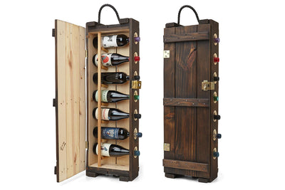 Wine Rack - Antique - Wooden Wine Rack | Wine Cellar | Wine Cabinet | Made in Montreal Canada - Boites de la paix - 1
