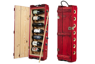Wine Rack - Red - Red Wine Rack | Red Winerack | Wooden Wine Shelf | Wine Storage - Boites de la paix - 1
