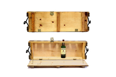 Mini Bar - Natural - Liquor Cabinet | Wooden Home Bar | Murphy Bar | Made in Montreal - Boites de la paix - 1
