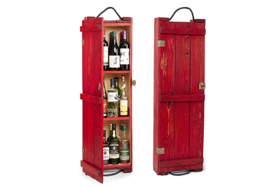 Whiskey Cabinet - Red - Scotch Cabinet | Home Bar | Whisky Bar | Red Liquor Cabinet - Boites de la paix - 1