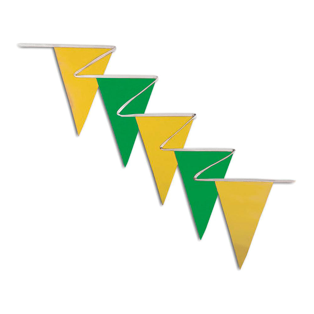 PENNANTS (NORMAL DUTY) - GREEN & YELLOW <BR>100 ft.