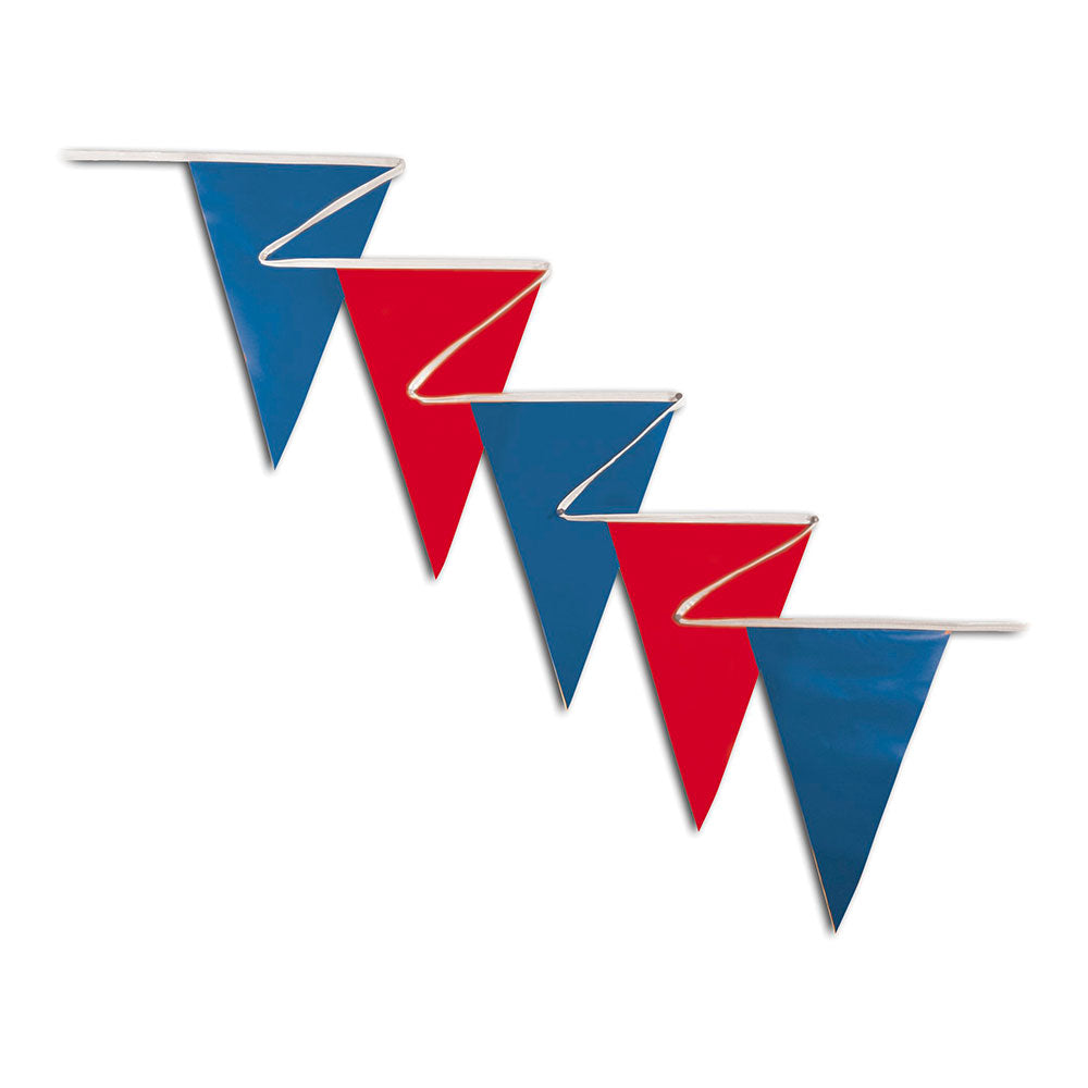 PENNANTS (NORMAL DUTY) - RED & BLUE <BR>100 ft.