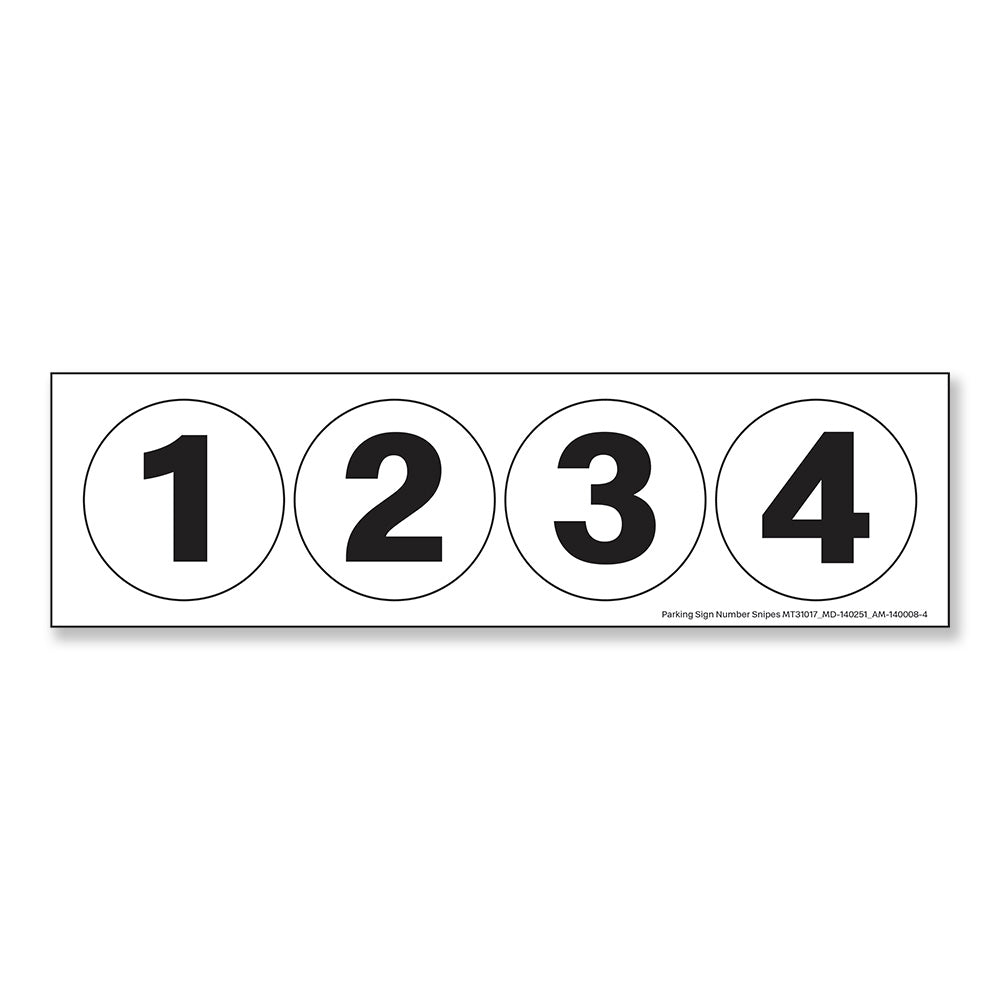 PARKING SIGN - NUMBER SNIPES