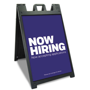 "Now Hiring - A-Frame Insert   24.25 In. X 36.125 In.  <Font Color=""Red""> Other Colors Available </Font>"