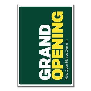 "Grand Opening - Poster   29 In. X 42 In.   <Font Color=""Red""> Other Colors Available </Font>"