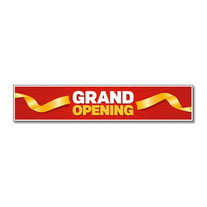 "Grand Opening - Door Decal - 30 In. X 6 In.   <Font Color=""Red""> Other Colors Available </Font>"