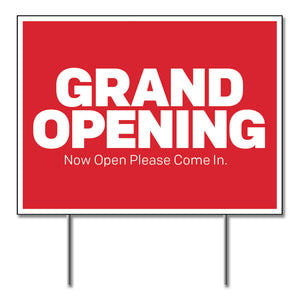 "Grand Opening - Lawn Sign - 24 In. X 18 In.  <Font Color=""Red""> Other Colors Available </Font>"