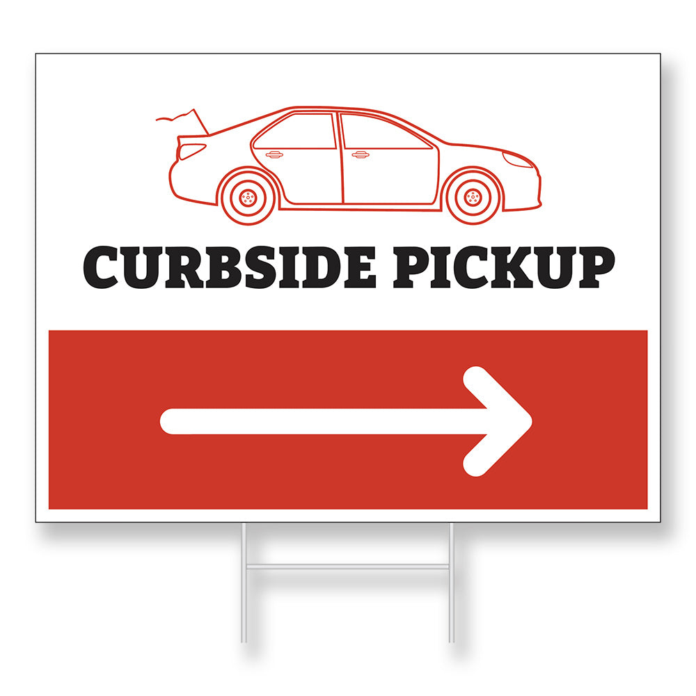 CURBSIDE PICKUP - LAWN SIGN