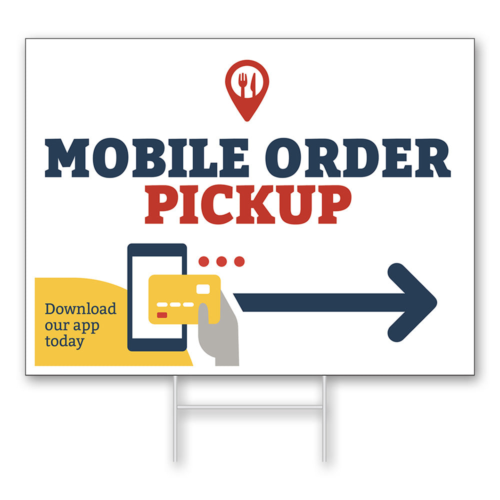 MOBILE APP PICKUP - LAWN SIGN