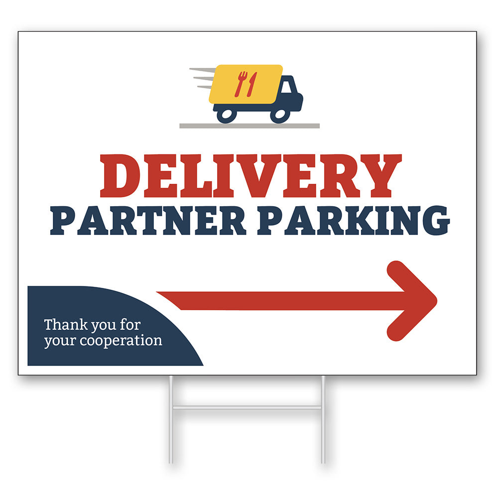 DELIVERY PARTNER PICKUP - LAWN SIGN