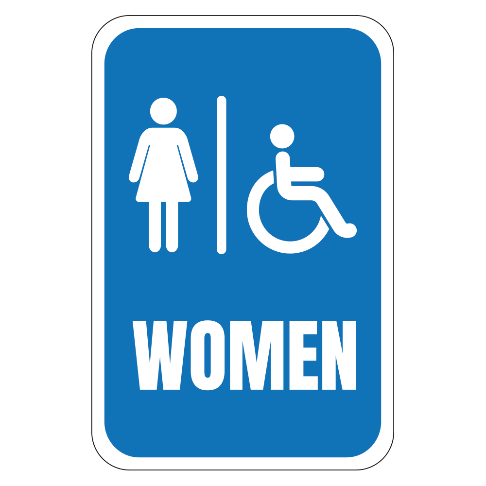 HANDICAP WOMEN'S RESTROOM - SIGN <BR> 12 in. x 18 in.