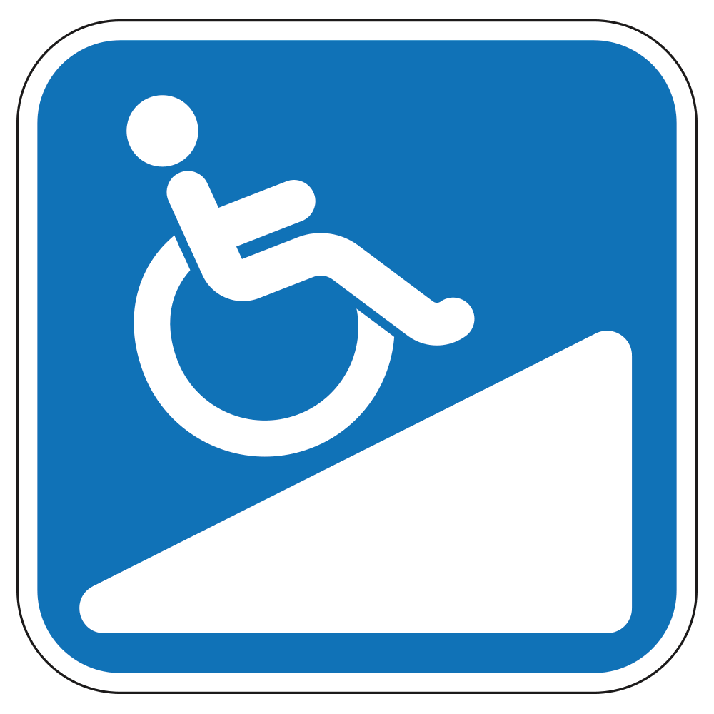 HANDICAP RAMP LOGO - SIGN <BR> 10 in. x 10 in.