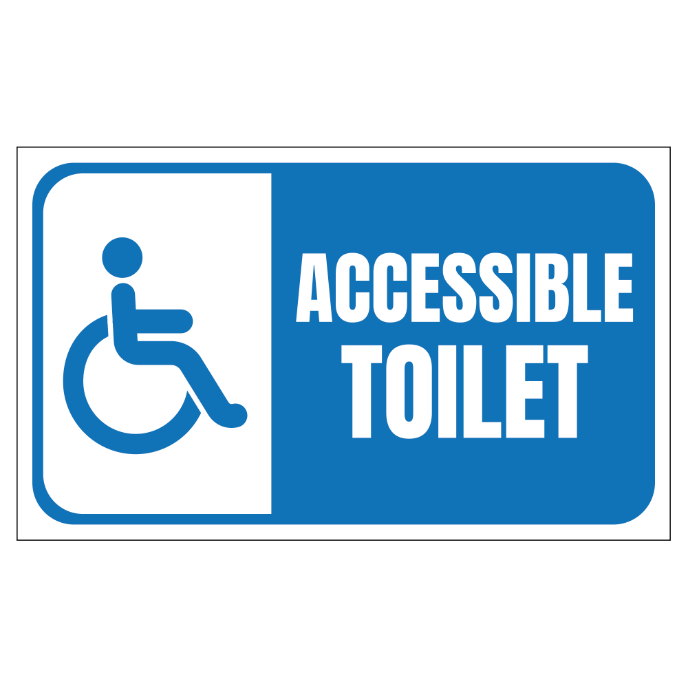 ACCESSIBLE TOILET, HANDICAP - SIGN <BR> 20 in. x 12 in.
