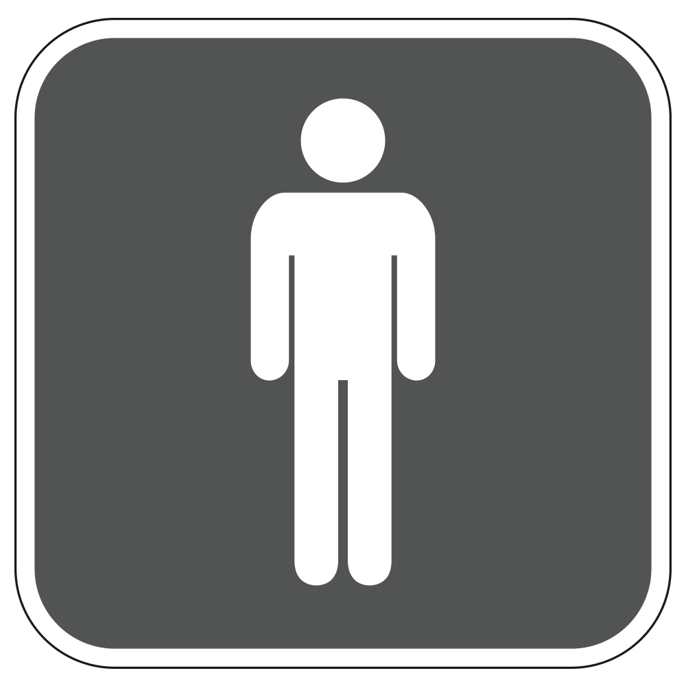 MENS RESTROOM LOGO - SIGN <BR> 10 in. x 10 in.