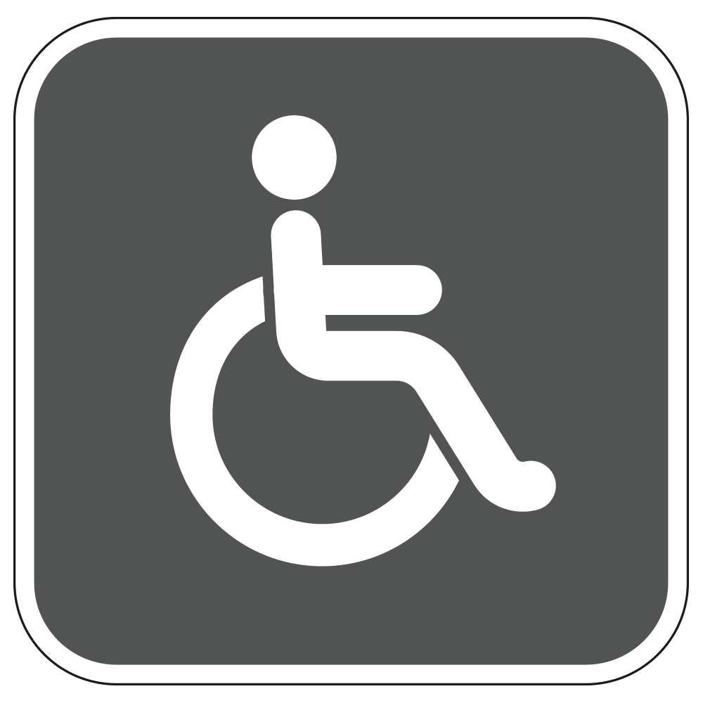 HANDICAP RESTOOM LOGO - SIGN <BR> 10 in. x 10 in.